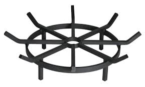 Gaslight Firepit by Fire Pit Grate Round Outdoor Goods