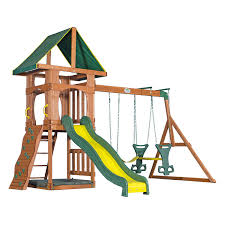 Wooden Swing Set Canopy by Best Wooden Swing Set Reviews Of 2017 At Topproducts Com