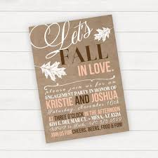 Engagement Invitation Cards Images Fall Engagement Party Invitation Fall In Love Engagement Party