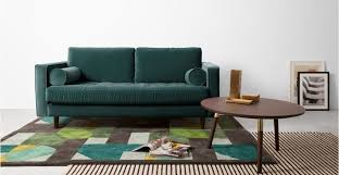breites sofa breites 2 sitzer sofa samt in petrolgrün
