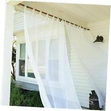 Tab Top Sheer Curtain Panels Tab Top Curtains Ebay