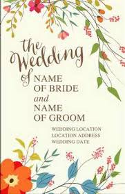 Wedding Bulletin Wedding Of Regular Personalized Wedding Bulletin Broadman