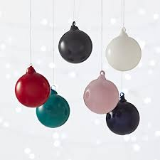 opaque ornaments set of 6 cb2