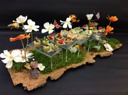 summer canapé tray design by alison price and company mood food