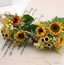 goldene hochzeit blumen sonnenblumen blumenstrauß hochzeit blumen brautsträuße