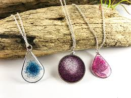 resin necklace pendants images Floating glitter necklace resin jewelry tutorial png