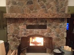 rustic stone corner fireplace mantel kits nature canvas painting