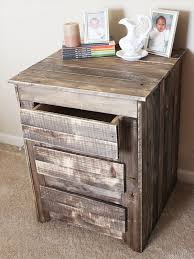 Diy Side Table Farmhouse Nightstands Diy Upcycled Pallet Rustic Nightstand And