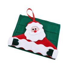 w decor fabric pockets merry santa claus