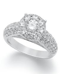 2 engagement rings engagement ring in 14k white gold 2 ct t w rings