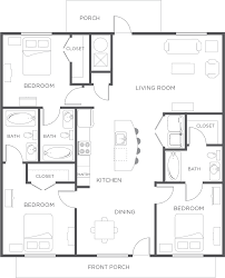 3 Bedroom Flat Floor Plan by 3 Bedroom Apartment Flat Floor Plan Wildwood Lubbock