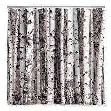 birch forest shower curtain tree décor bath accessories