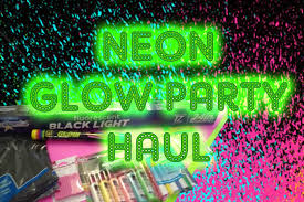 blacklight party supplies neon glow party supply haul