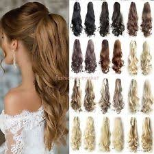 ponytail hair extensions claw clip ponytail wigs extensions supplies ebay