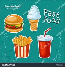 junk food icon design flat illustration stock vector 354218363