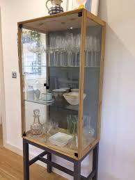 Klingsbo Glass Door Cabinet Antique Living Room Glass Door Corner Cabinet Ikea Butler Olive