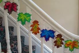 paper leaf decorations rooftop post printables