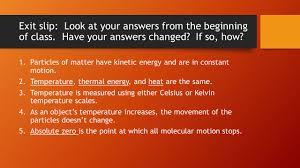ps7 transfer of thermal energy ps7 the student will