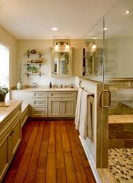 Hardwood Floors In Bathroom Country Master Bathroom With Undermount Sink U0026 Master Bathroom