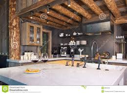Log Cabin Kitchen Images by Rustic Cabin Kitchen Stock Photography Image 8063962