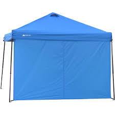 Camping Tent Awning 10 U0027 X10 U0027 Instant Canopy Tent Folding Gazebo With Carry Bag Brown
