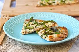 Cottage Cheese Recepies by Pita Flatbread With Asparagus And Herbed Cottage Cheese Rachel