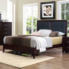 Quilted Bed Frame Bedroom Homelegance Edina Upholstered Headboard Platform In