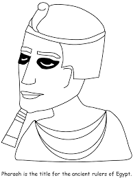 printable pharaoh egypt coloring pages coloringpagebook com