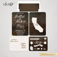 Post Card Invitations Rustic Wood Forest Wedding Invitation And Rsvp Postcard
