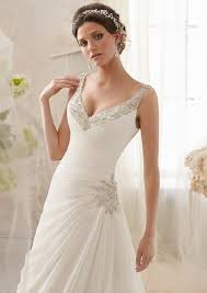 Wedding Dresses For Petite Brides Intricate Beading On Delicate Chiffon Bridal Dress Style 5213
