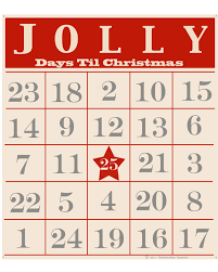 The Bingo Barn Chalkboard Blue Magnetic Christmas Countdown Bingo Style