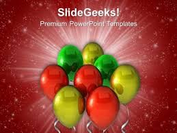 party balloons powerpoint templates slides and graphics
