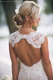 lace wedding dress keyhole back mermaid wedding gowns custom