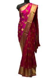 rani pink colour rani pink and red katan silk saree silk sarees sarees