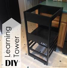 Toddler Stool For Kitchen by Diy Learning Tower Kitchen Helper Based On Plans By Ana White