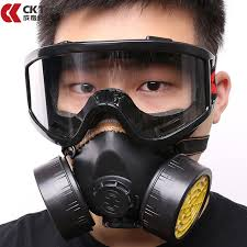 Masker Gas ck tech carbon filter mask silicone multifunction respirator gas