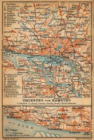 Map Of Hamburg Germany by