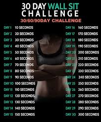 How To Do Challenge 30 Day Wall Sit Challenge 306090 D