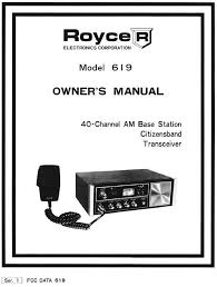 royce 619 cd owners manual schematic cb radio book on cd