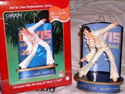 elvis with the king of rock n roll musical 2 ornament set