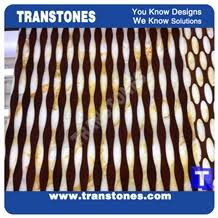 translucent wooden vein stones golden onyx ornaments for interior