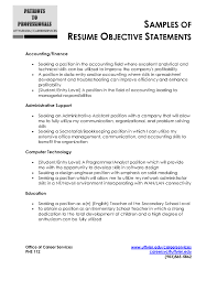 Sample Resumes For Administrative Assistant 28 Curriculum Vitae Objective Statement Examples Resume For