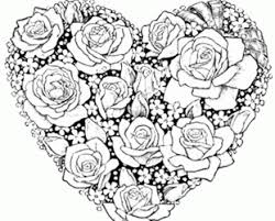 coloring pages hearts stars roses hearts animated stars