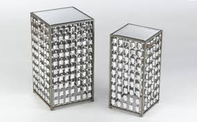 mirrored end table set mirrored end table