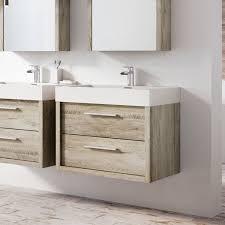 750mm Vanity Units For Bathroom by Winslow 750mm Wall Mounted Vanity Unit U0026 Basin Light Swan Oak