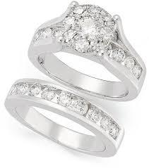 unity wedding bands prestige unity diamond bridal set 14k white gold diamond