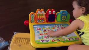 vtech activity table deluxe learning unboxing vtech new touch learn activity desk deluxe