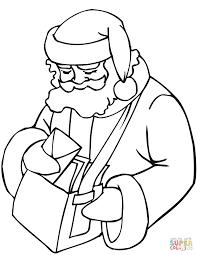 santa claus postman bag coloring free printable
