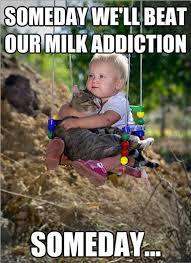 Milk Meme - milk addiction funny baby meme