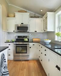 Black And White Kitchen Transitional Kitchen by White Cabinets Black Glaze Kitchen Traditional With Transitional